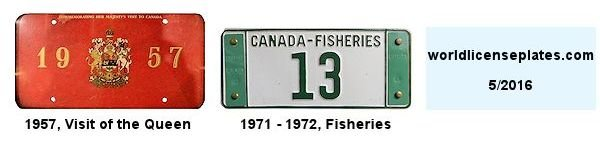Canadian Miscellaneous License Plates