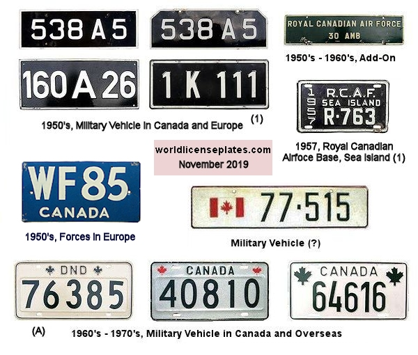Canadian Military License Plates
