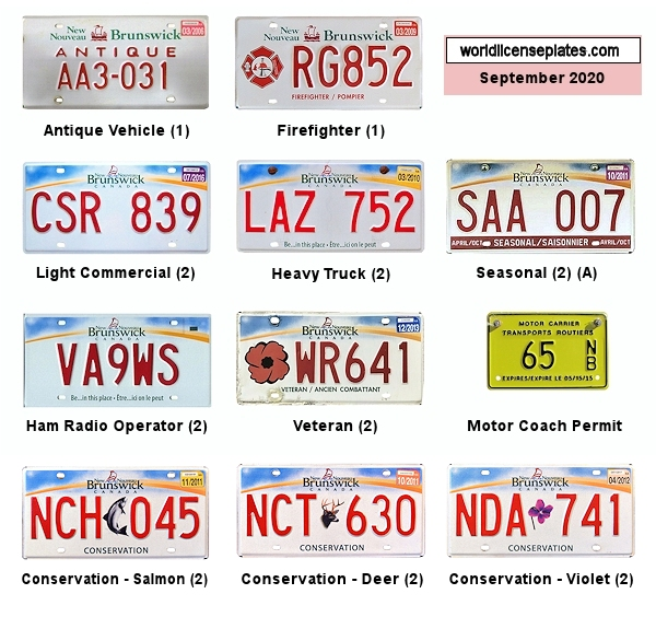 New Brunswick License Plates