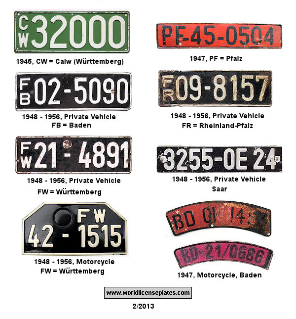 France in Germany License Plates