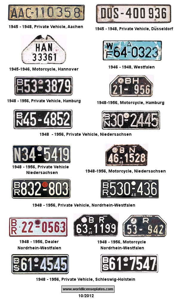 Great Britain in Germany License Plates