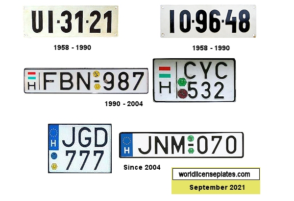 Hungarian License Plates