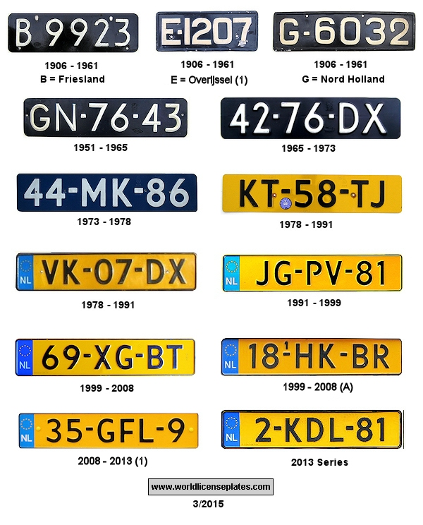 Dutch License Plates