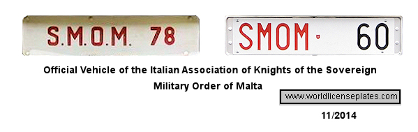 Sovereign Military Order of Malta License Plates