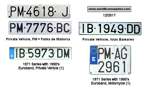 Baleares Islands License Plates