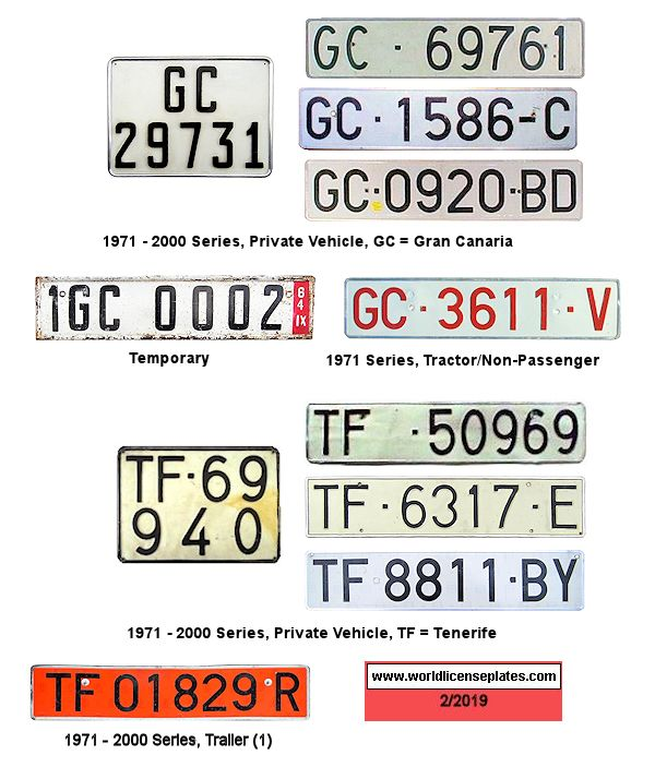 Canary Islands License Plates