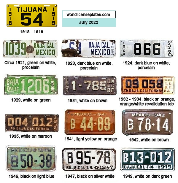 Baja California License Plates