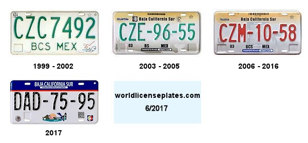 Baja California Sur License Plates