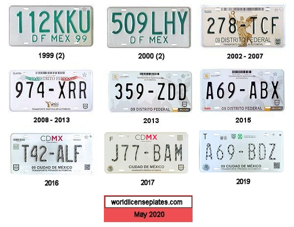 Federal District License Plates