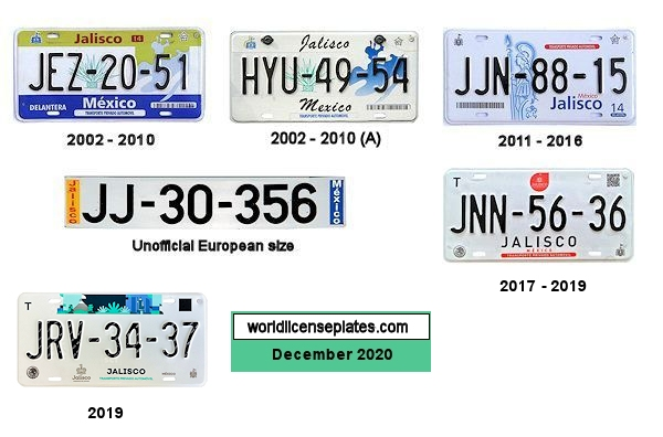 Jalisco License Plates