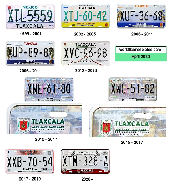 Tlaxcala License Plates