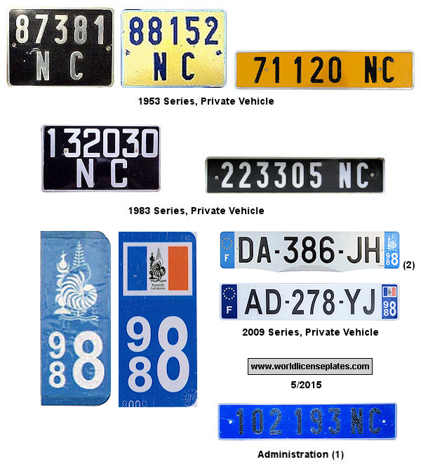 New Caledonia License Plates