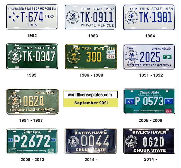 Chuuk License Plates