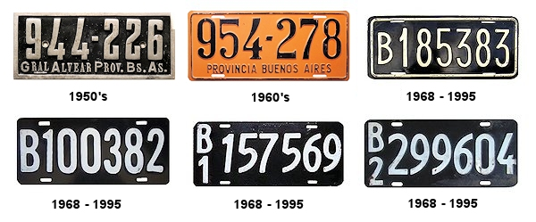 Buenos Aires Province License Plates