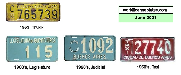 Buenos Aires City License Plates