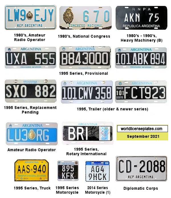 Argentinian License Plates