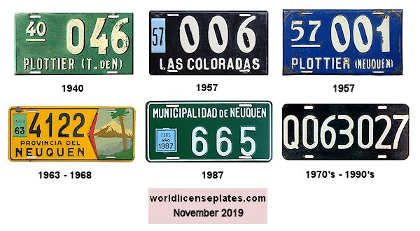 Neuquen License Plates