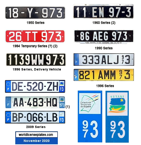 French Guiana License Plates