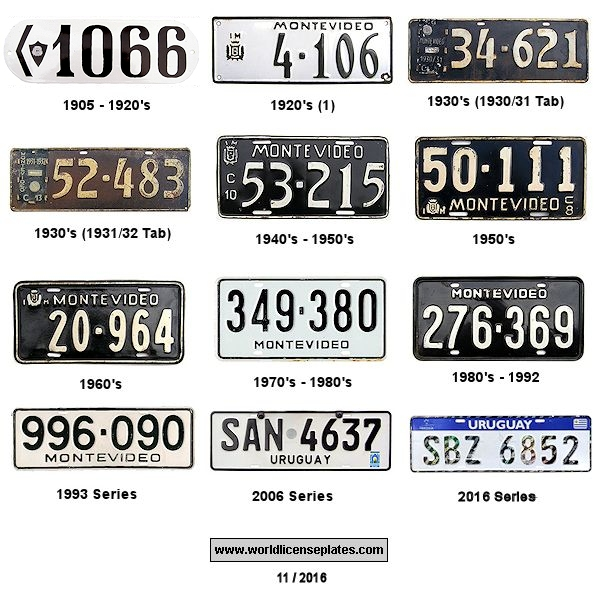 Montevideo License Plates