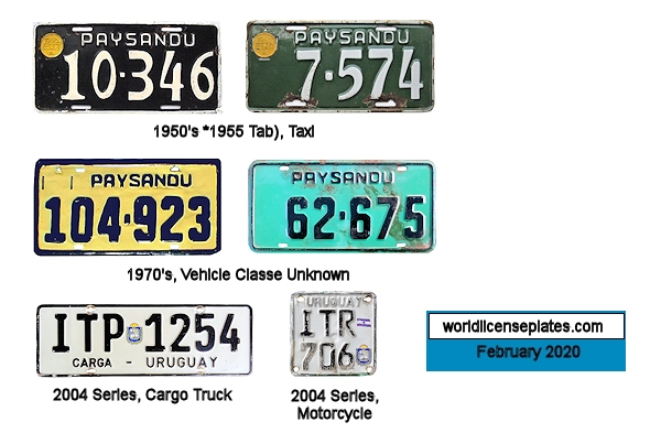 Paysandu License Plates