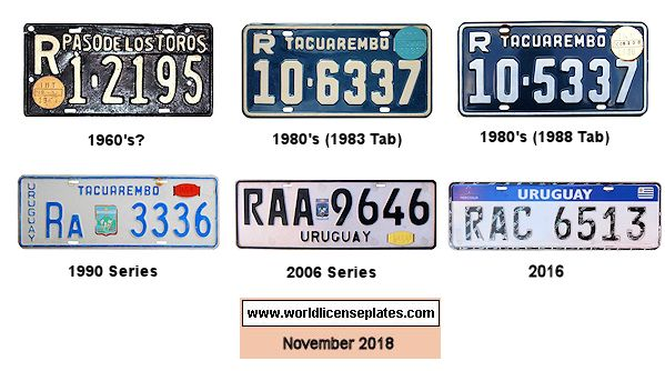 Tacuarembo License Plates