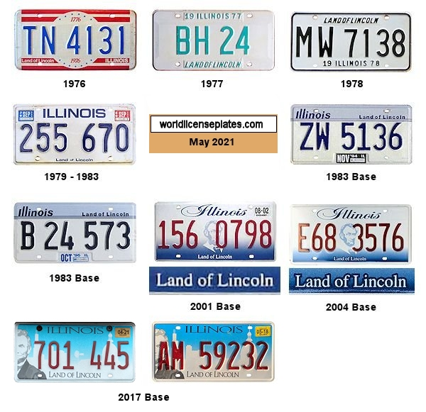 Illinois License Plates