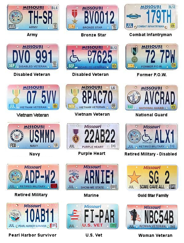 Missouri License Plates