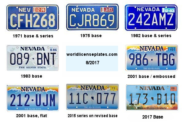 License Plates of Nevada