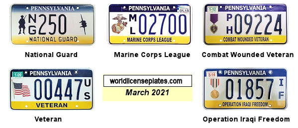 Pennsylvania License Plates