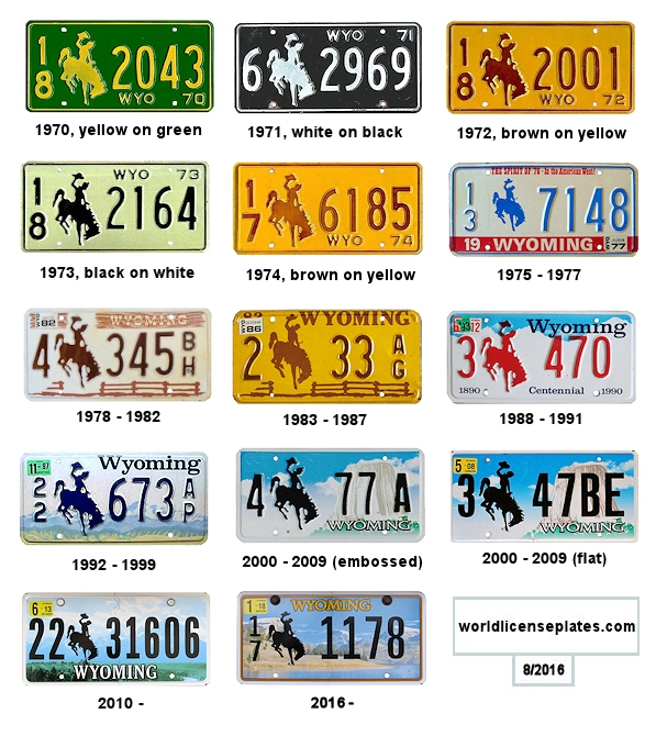 Wyoming License Plates