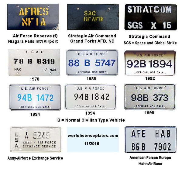 Air Force License Plates